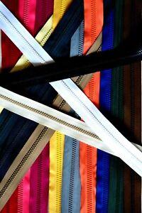 Jacken-Reißverschluss  teilbar Krampe 6 mm  20 Farben, 16 Längen  65 bis 100cm