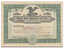 Homer Union Petroleum Co., Inc. of Louisiana Stock Certificate