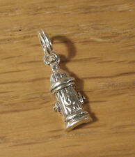 Miniature Fire Hydrant Charm Pendant .925 Sterling Silver USA Made Firefighter