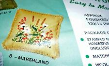 MARSHLAND COMPLETE PILLOW KIT 1362B from Creative Stitchery NOS Sealed(1 Pillow)