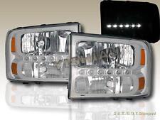 1999-2004 Ford F250 F350 Superduty / 2000-2004 Excursion Headlights + Bumper