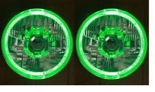 "Toyota Landcruiser 45 47 55 70 series Green LED Halo 7"" Round headlights"