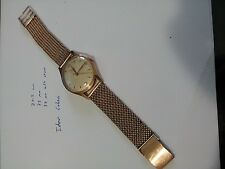 14K Rose Gold Men's Vintage Doxa Mechanical Analog watch, RARE! Great Condition!