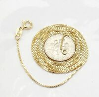 Technibond Venetian Box Chain Necklace 14K Yellow Gold Clad Sterling Silver