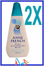 2 X ANNE FRENCH DEEP CLEANSING MILK 200ML FACIAL FACE CLEANSER