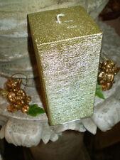 German gold brushed metallic square pillar candles,natural wax,slow burning