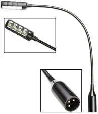 Ultrahelle Profi LED XLR 3 pol Schwanenhals DJ Mixer Lampe Flexi Mini Light