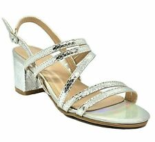 DODO H43-101 Women's Silver Pageant Dress Evening & Party Shoes size 10