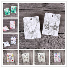 Jewelry Display Card Necklace Bracelet Packaging Card 100xColorful Paper Hanging