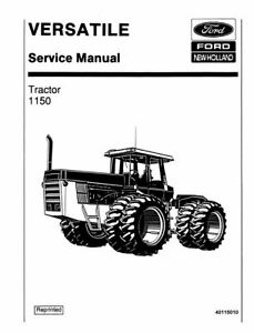 FORD Versatile Tractor 1150 Service Manual PRINT VERSION