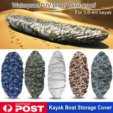 Kayak Boat Waterproof UV Resistant Dust Storage Cover Shield For 3.6-4m Boat AU