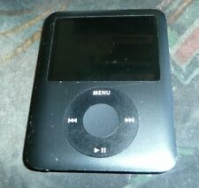 Apple iPod Nano 3rd Generation A1236 Black 8GB Music Player 2147 - Lines on scrn