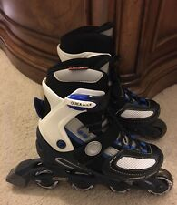Optimum Adjustable Inline Skates/Rollerblades Kids/Boys/Youth Size 3-6 Us, 35-38