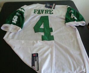 BRETT FAVRE New York JETS Football REEBOK Sewn Size 52 Jersey NFL White NEW