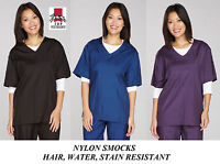 NYLON SMOCK SHIRT TOP GROOMER Barber STYLIST Grooming Hair,Water&Stain Resistant