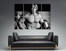 Arnold Schwarzenegger Conquer Bodybuilding Wall Art Poster Grand format A0 ref05