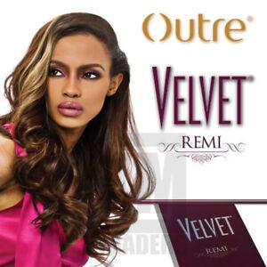 "Outre VELVET REMI YAKI 100% Remi Human Hair 8"",10""S,10"",12"",14"",16"",18"",20"""