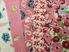 """New ListingBest 20 Vintage All Pink Feedsack Fabric Quilt 5 x 8"""" Flour Sack Charm Pieces"""