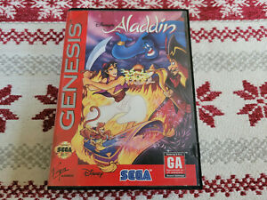 Disney's Aladdin - Authentic - Sega Genesis - Case / Box Only!