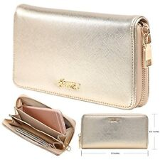 Gold Glitter Designer Plus Slim Wallets Purses For Fashion Women And Teen