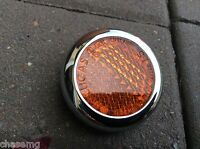 Lucas RER25 Amber  Reflector & Chrome Rim,  healey,mg tf , motorcycle ROW2 - C