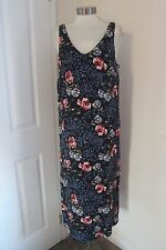 size 18 navy floral print maxi dress from marks and spencer brand new