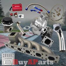 T3/T4 Turbo+Manifold+Black Wastegate+Purple Boost Controller Kit for BMW E36 E46
