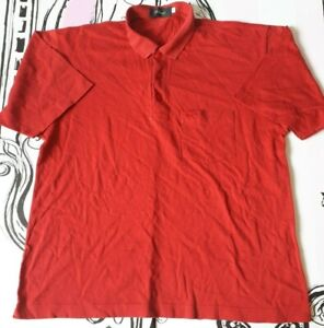 """Mens Size M 40"""" Wolsey Fox Logo Red Polo Shirt Cotton Short Sleeve"""