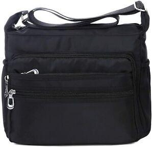 Crossbody Bag for Women Waterproof Shoulder Bag Messenger Bag Casual Nylon Purse