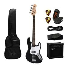 Artist Jb2 Black Electric Bass Guitar Plus Accessories With Amp -