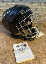 New With Tags - Ccm Fl40 Ice Hockey Player Helmet Cage Combo - Size Large