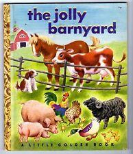 "THE JOLLY BARNYARD ~ 1st ""A"" ed. Little Golden Book #67 ~ VG ~ many kids books!"