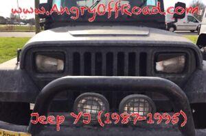 AngryOffRoad- Jeep Cherokee YJ Angry Eyes / Headlight Trim
