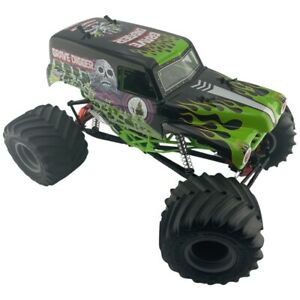 Axial SMT10 Grave Digger RC Car Complete With Alloy Upgrades OZRC ML
