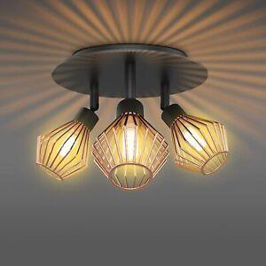 3 Way Ceiling Spot Lights Fitting Led Industrial Retro Spotlight Lamp Downlight