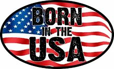 Born In The Usa American Flag Usa Trump Decal Window Bumper Sticker Political