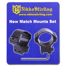 """Nikko Rifle Scope MOUNTS 2 Piece 30mm Tube MEDIUM 11mm 3/8"""" Dovetail Airgun Ring"""