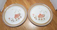 "Hearthside Water Colors Blush Vtg DINNER PLATES SET OF 2 11"" Japan Stoneware"