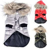 Haustier Hund Mantel Winter Hoodie Jacke Kleidung Katze Welpen Warme Kapuzjacke