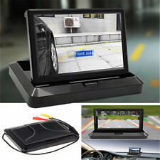 5 Inch Digtal TFT LCD Monitor Foldable Car Rear View Monitor For Camera DVD VCR