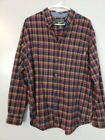 Woolrich Men's Button Down Shirt Size Large L Blue Plaid Long Sleeve Collared