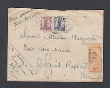 French Morocco 1947 Two Registered Airmail Covers Casablanca & Nezgane