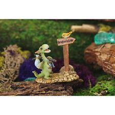 Miniature Fairy Garden Mini Dragon Scaley Off To The Dragon'S Lair