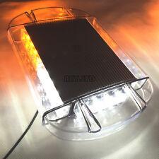 Car Truck Amber/White 24 LED BEACON Security Strobe Warning Flashing Light BAR