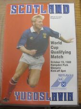 19/10/1998 Scotland v Yugoslavia [At Hampden Park] . Item appears to be in good