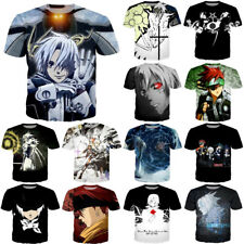 Japan Anime D.Gray-man Print 3D T-shirt Casual Unisex short sleeve Tee Tops New