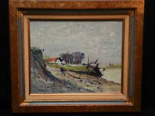 Tableau Marcel LAQUAY LE CROTOY. Baie de somme Ecole Rouen