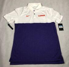 Nike Mens Medium Clemson Tigers Football White SS Polo Shirt Ao5439-110 E3 afba5bb04