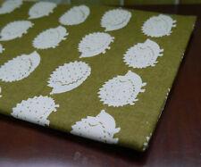 hedgehog pattern Cotton Linen Fabric tablecloth DIY Throw Pillow Cloth 50x150cm