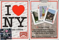 I Love NY Playing Cards Poker Size Deck USPCC New York City Landmarks Custom New